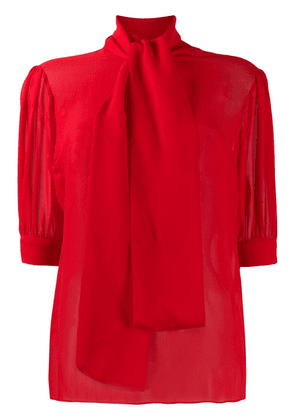 Blumarine funnel-neck fitted blouse - Red