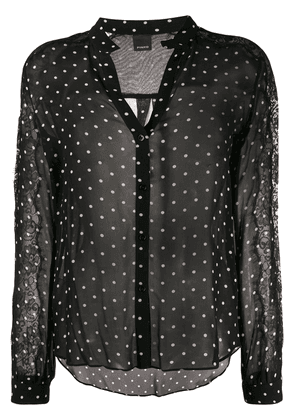 Pinko polka-dot print shirt - Black