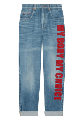 Gucci My Body My Choice jeans - Blue