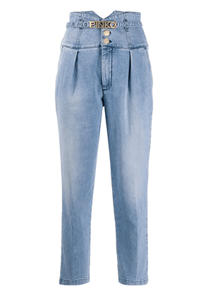 Pinko high-rise cropped jeans - Blue