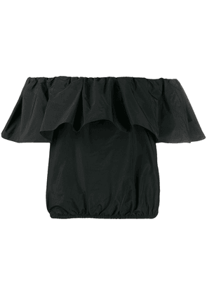 Pinko Benson off-the-shoulder taffeta top - Black