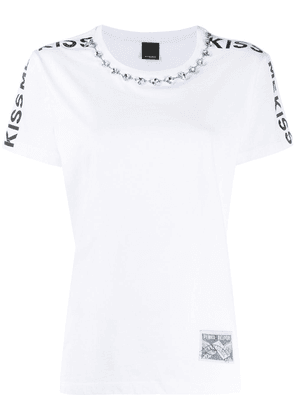 Pinko crystal embellished T-shirt - White