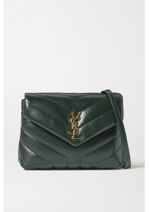SAINT LAURENT - Loulou Toy Quilted Leather Shoulder Bag - Green