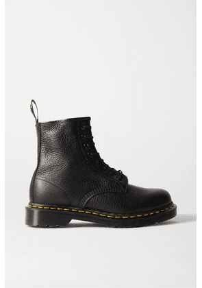 Dr. Martens - 1460 Lace-up Textured-leather Ankle Boots - Black