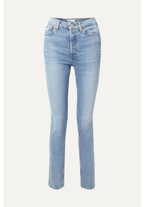 RE/DONE - Comfort Stretch Double Needle High-rise Skinny Jeans - Blue