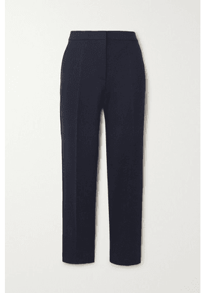 Max Mara - Pegno Stretch-cady Straight-leg Pants - Navy
