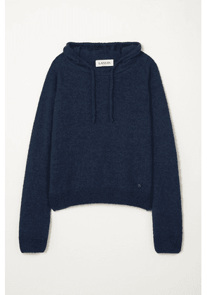 Lanvin - Alpaca, Cashmere And Silk-blend Hoodie - Navy