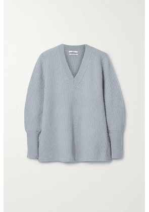 Co - Ribbed Wool And Cashmere-blend Sweater - Blue