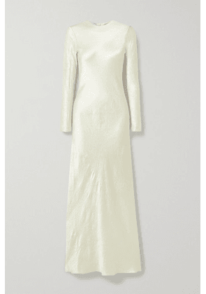 Co - Crinkled-satin Maxi Dress - Cream