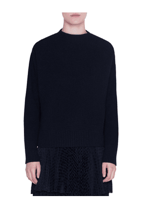 Wool-Cashmere High-Neck Sweater