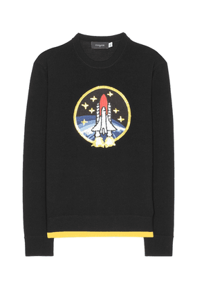 Rocket Shuttle embellished wool sweater