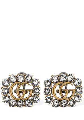 Gg Marmont Crystal Clip-on Earrings