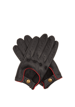 Dents - Delta Leather Driving Gloves - Mens - Black