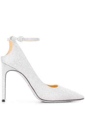 Giannico infinity pointed pumps - SILVER