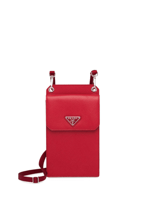 Prada neck strap cellphone case - Red
