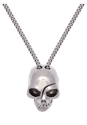 Chain Necklace W/ Divided Skull Charm
