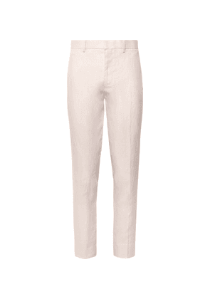 Club Monaco - Grant Slim-fit Linen Trousers - Pink