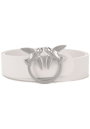 Pinko Love birds buckle belt - White