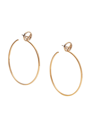 Fendi F is Fendi hoop earrings - GOLD