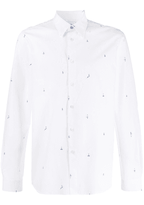 PS Paul Smith printed detail shirt - White