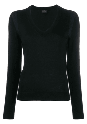 PS Paul Smith shoulder trim slim-fit jumper - Black