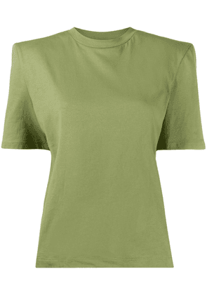 Attico short sleeve structured shoulders T-shirt - Green