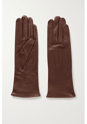 Agnelle - Grace Leather Gloves - Brown