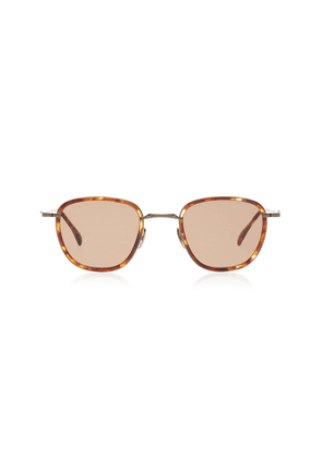 Mr. Leight Griffith S 46 Maple Acetate Round-Frame Sunglasses