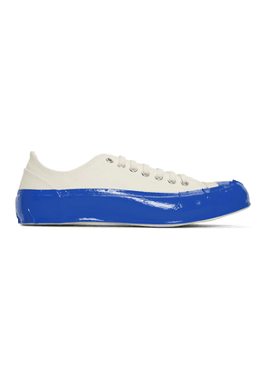 Comme des Garcons Shirt Off-White and Blue Spingle Move Edition Craft Tape Sneakers