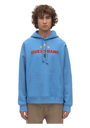 Embroidered Heavy Cotton Jersey Hoodie