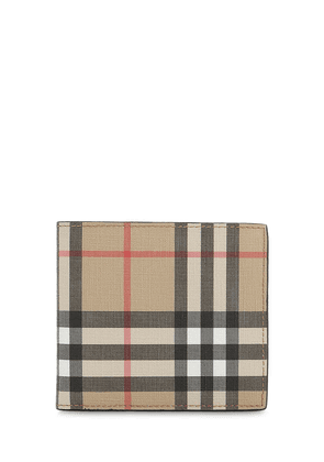 Tech Coated Check Billfold Wallet