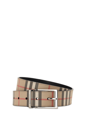 35mm Reversible Check Faux Leather Belt
