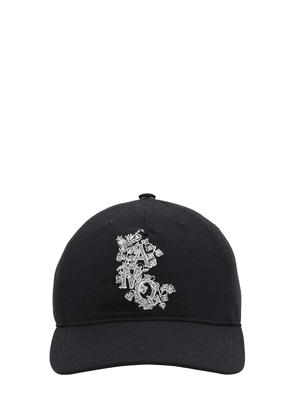 Embroidered Cotton Canvas Baseball Hat