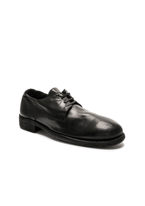 Guidi Full Grain Leather Donkey Classic Derbies in Black - Black. Size 45 (also in ).