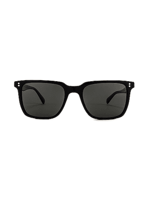 Oliver Peoples Lachman Sun in Black & Midnight - Black. Size all.