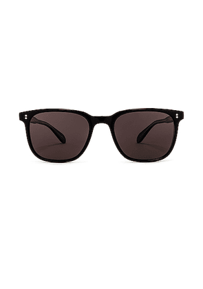 Garrett Leight Emperor 52 in Black Laminate Crystal & Black Polar - Black. Size all.