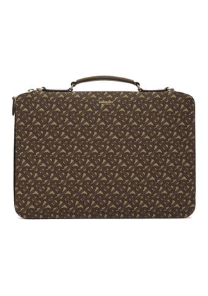 Burberry Brown Monogram E-Canvas Marley Briefcase