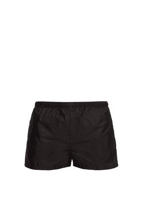 Prada - Elasticated Waist Nylon Swim Shorts - Mens - Black