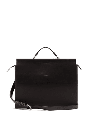 Nosakhari - Standout Leather Briefcase - Mens - Black