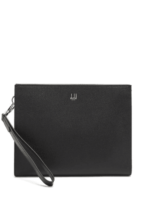 Dunhill - Cadogan Grained-leather Pouch - Mens - Black