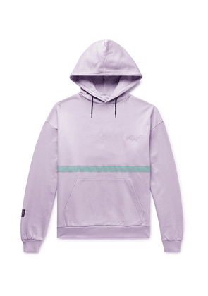 Flagstuff - Reflective-trimmed Panelled Loopback Cotton-jersey Hoodie - Purple