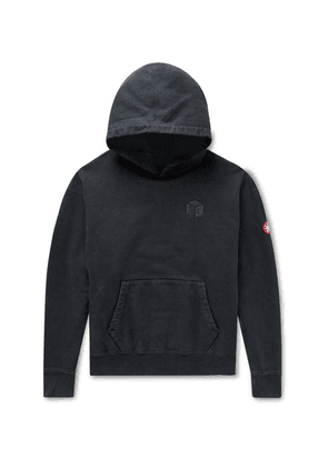 Cav Empt - Logo-embroidered Loopback Cotton-jersey Hoodie - Black