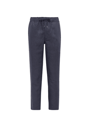 Derek Rose - Drawstring Linen Trousers - Navy