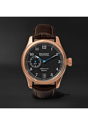 Bremont - Ac35 America's Cup 43mm Rose Gold And Alligator Watch, Ref. No. Ac35 - Brown