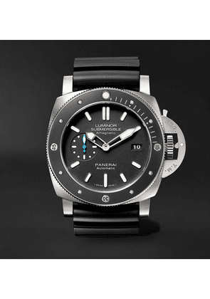 Panerai - Luminor Submersible 1950 Amagnetic 3 Days Automatic 47mm Titanium And Rubber Watch, Ref. No. Pam01389 - Black