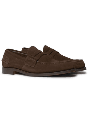 Church's - Pembrey Suede Penny Loafers - Dark brown