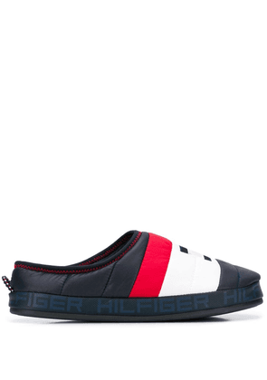 Tommy Hilfiger paneled colour block slides - Blue