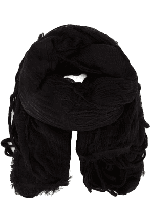 Forme D'expression textured fringed scarf - Black