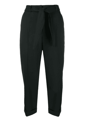 Christian Wijnants high-rise cropped trousers - Black