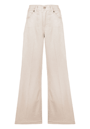 7 For All Mankind flared fit trousers - NEUTRALS